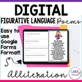 Digital Alliteration Poems with Poetry Comprehension, Dist