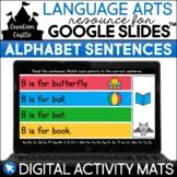 Digital Alphabet Activities | Beginning Sounds Sentences f