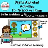 Digital Alphabet Activities Sunflower Letter Matching Game