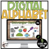 Digital Alphabet Activities - Uppercase and Lowercase Lett