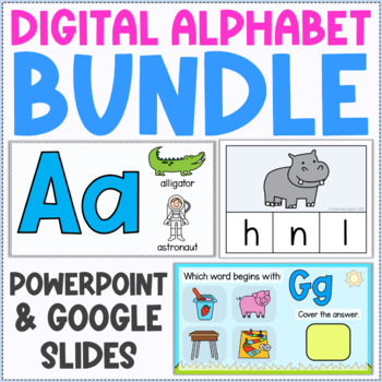 Digital Alphabet Bundle - Games, Flashcards, and Other Activities