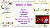Digital Alphabet Bundle! Letter sort, Beginning Sound Sort, Video, and Poem