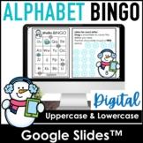 Digital Alphabet Fluency BINGO Game   Google Slides™ Upper