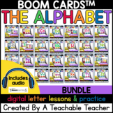 Alphabet Letter Lessons and Practice Boom Cards™️ for Digi