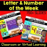 Digital Alphabet & Number of the Week Bundle