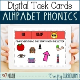Digital Alphabet Phonics Task Cards
