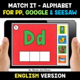 Digital Alphabet Word Work for Google and Seesaw - Distanc
