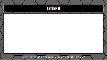 Digital Alphabetical Organizer (Editable Google Slides)