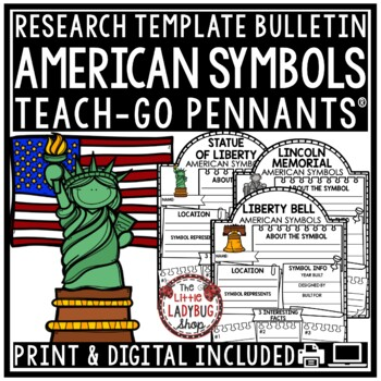 Digital American Symbols Activity & United States Research for Google Classroom