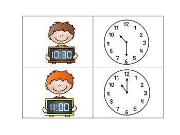 Telling Time Math Game Center
