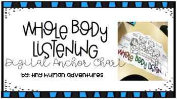Digital Anchor Chart - Whole Body Listening