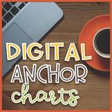 Editable Digital Anchor Charts Bundle   Distance Learning 