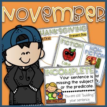 Digital Anchor Charts~ November EDITABLE