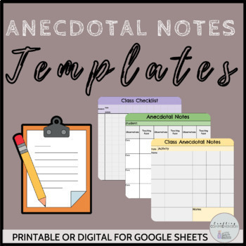 Digital Anecdotal Notes