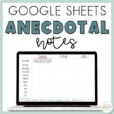 Digital Anecdotal Notes Template Using Google Sheets | Pap