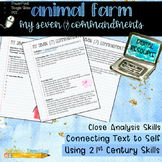 Digital Animal Farm Activity: My Seven (7) Commandments