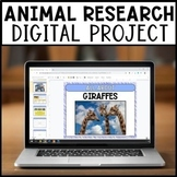 Digital Animal Research Project | For GOOGLE Slides | Dist