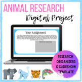 Digital Animal Research Project- Guided Organizers and Slideshow Template