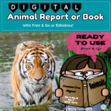 Digital Animal Research Report with Printables and Editables