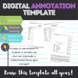 Digital Annotation Template