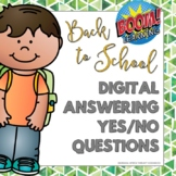Digital Answering Yes or No Questions - Back to School BOO