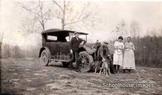Digital Antique Image Family Outing Antique Car