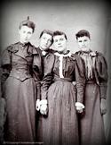 Digital Antique Image Four Sisters