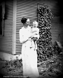 Digital Antique Image Grandmother and young boy