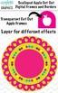 Digital Apple Cut Out Scallop Frames 40 Piece Bright Color