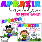 Digital Apraxia Bubbles Game for Speech Therapy