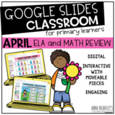 Digital April Math and Literacy Review
