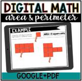 Digital Math//Area & Perimeter//Google Slides//DISTANCE LEARNING