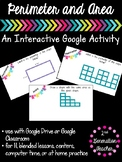 Digital Area and Perimeter Google Drive or Google Classroom Activity
