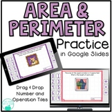 Digital Area and Perimeter Practice with Google Slides - D