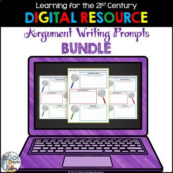 Digital Argument Writing Prompts Bundle