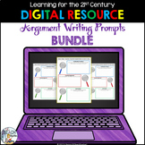 Digital Argument Writing Prompts Bundle