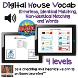 Digital Around the House Vocabulary (4 levels) on Boom Cards™