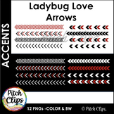 Digital Arrows: Ladybug Love - 12 Arrows in Red, Black, and White