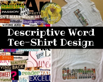 Digital Art 'Descriptive Word Tee-Shirt Design' Using Photoshop (Mixed Media)