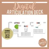 Digital Articulation Deck N, P, R, S | Distance Learning |