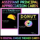 Digital Assistant Principal Appreciation Cards (Emoji Themed)