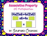 Digital Associative Property of Multiplication (Distance Learning)