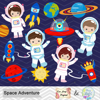 Digital Astronaut Clip Art Digital Space Clip Art Astronaut Boys Girls Clipart