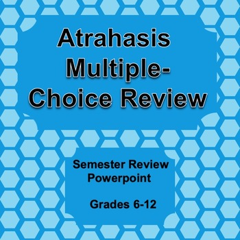 Digital Atrahasis Multiple Choice Semester Review Game Literature Literary Terms