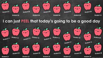 Digital Attendance - Apples (Interactive Whiteboard)