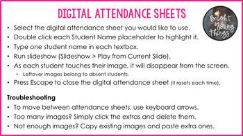 Digital Attendance - Australia (Interactive Whiteboard)