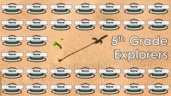 Digital Attendance - Explorers (Interactive Whiteboard)