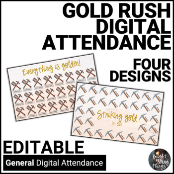 Digital Attendance - Gold Rushes and Mining (Interactive Whiteboard)