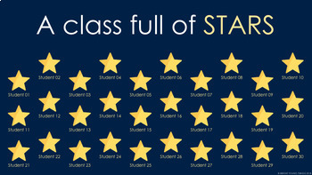 Digital Attendance - Stars (Interactive Whiteboard)