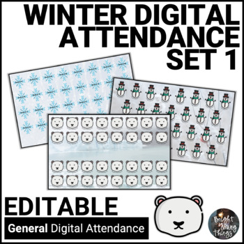 Digital Attendance - Winter - Set 1 (Interactive Whiteboard)
